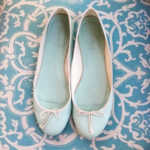 J.Crew Classic Leather Ballet Flats in Mint
